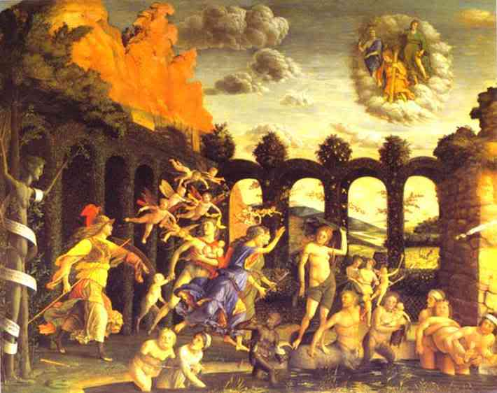 Atenea-Minerva expulsando nuestros egos del Jardín del Edén